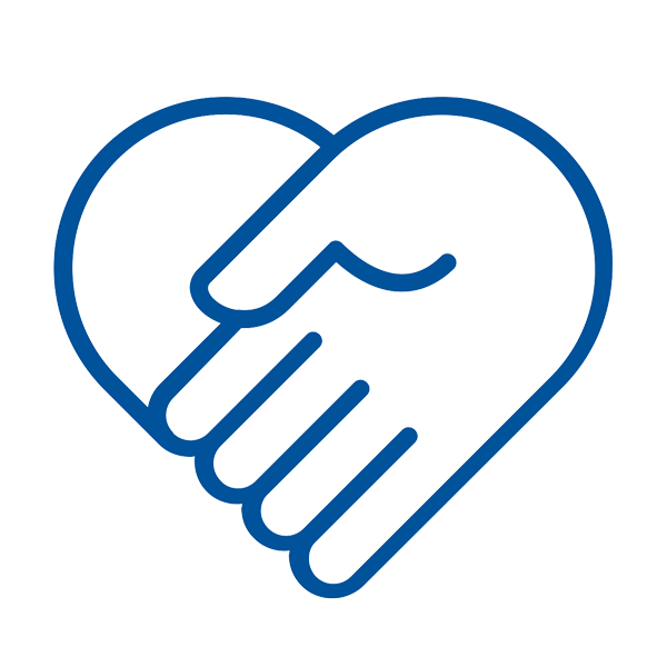 hand in a heart icon